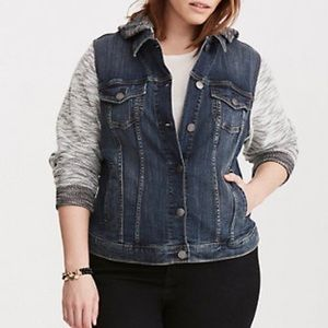 Torrid Denim French Terry Jacket